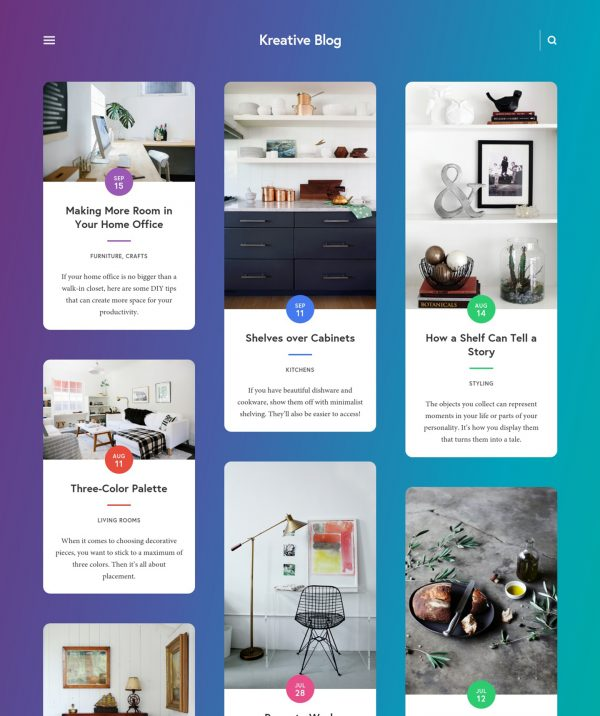 Kreative Blog Squarespace Template